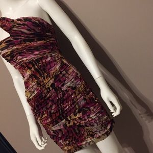 Love Tease Cheetah Sequin Print Dress Size 3